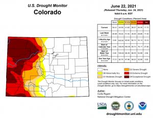 Colorado River Basin - Drought Monitor Map